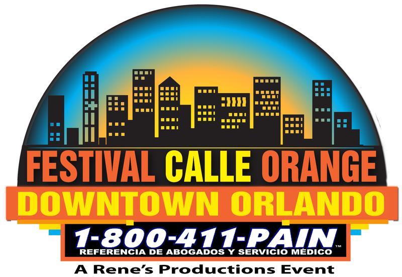 1-800-411-Pain Festival Calle Orange Downtown Orlando
