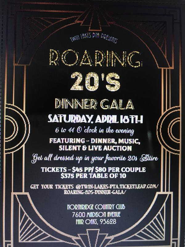 ROARING 20's Dinner Gala