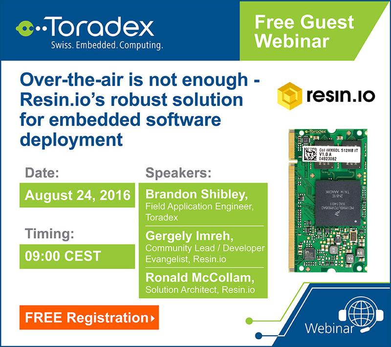 Guest webinar: Over-the-Air is Not Enough - Resin.io's Robust Solution for Embedded Software Deployment