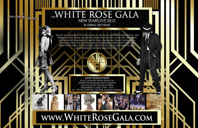 White Rose Gala NYE Denver 2014 - 2015
