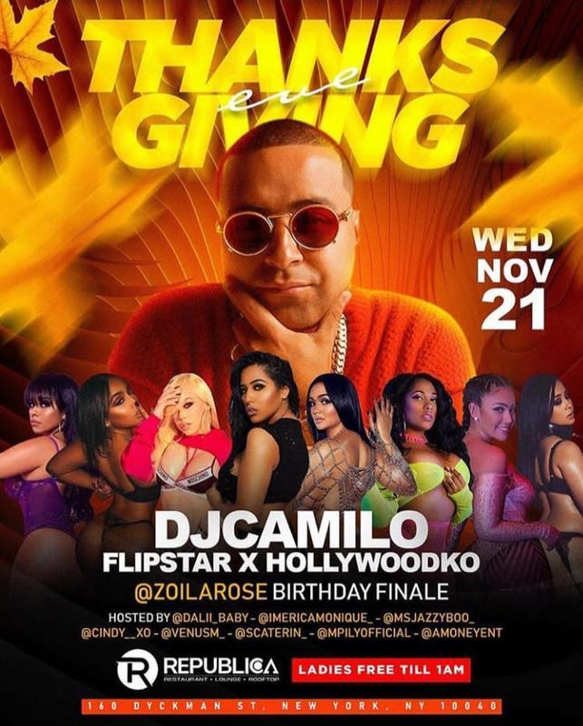 Thanksgiving Eve 2018 DJ Camilo Live At Republica
