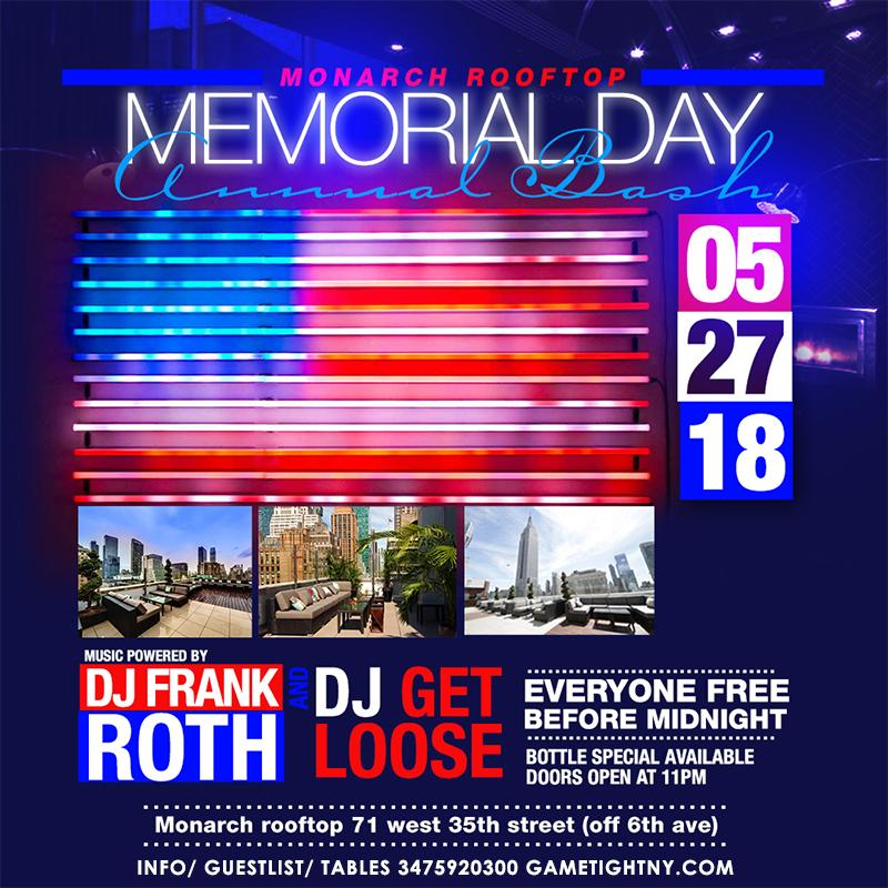 Monarch Rooftop Lounge MDW 2018 Everyone FREE (Gametight)