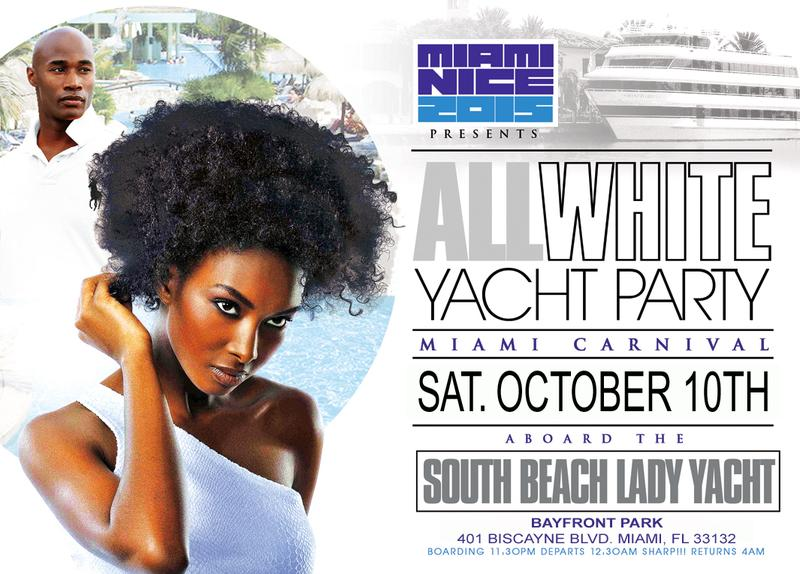 Miami Nice 2015 Miami Carnival All White Yacht Party