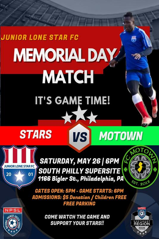Junior Lone Star FC v. FC Motown