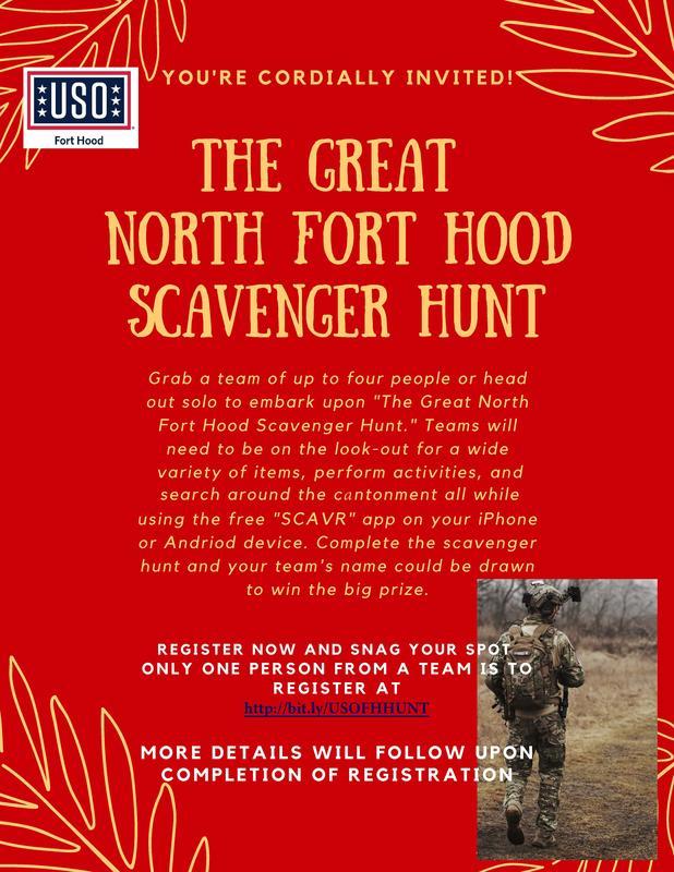 The Great North Fort Hood Scavenger Hunt