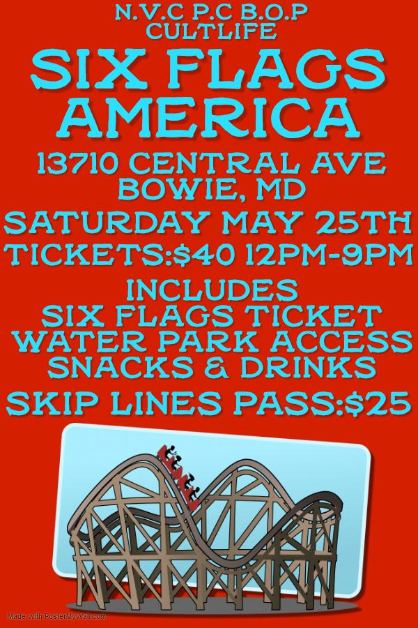 Six Flags America Trip Tickets in Bowie, MD, United States