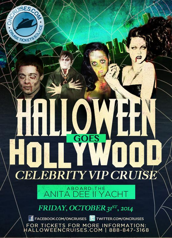 Halloween Goes Hollywood VIP Cruise Aboard The Anita Dee II Yacht