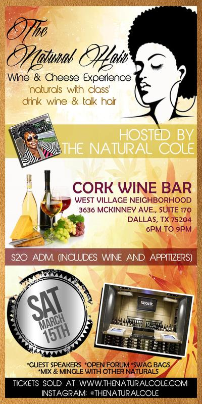 The Natural Cole: Naturals with Class - A Natural Hair Wine and Cheese Experience