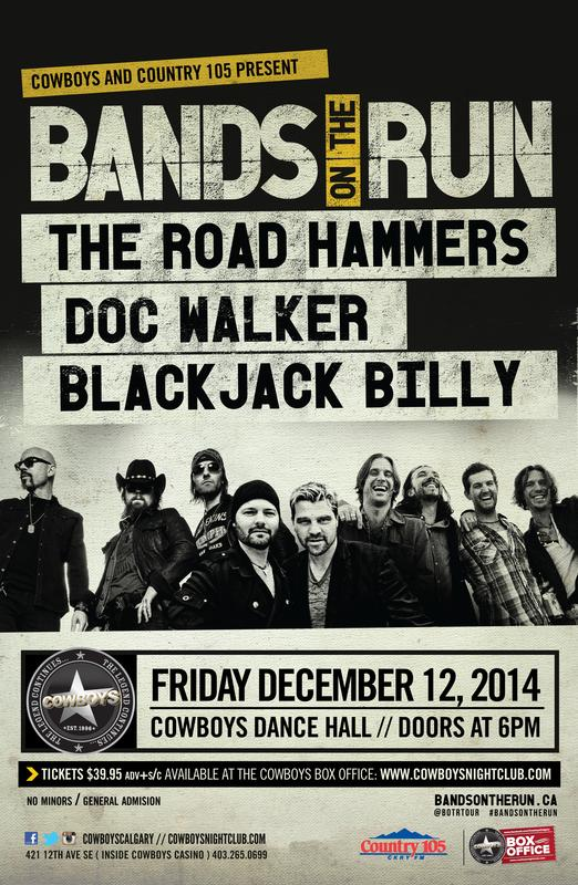 BANDS ON THE RUN:The Road Hammers, Doc Walker & Black Jack Billy