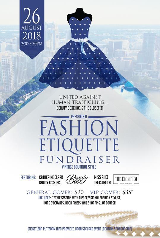 United Against Human Trafficking: Fashion Etiquette Fundraiser- Summer Soiree