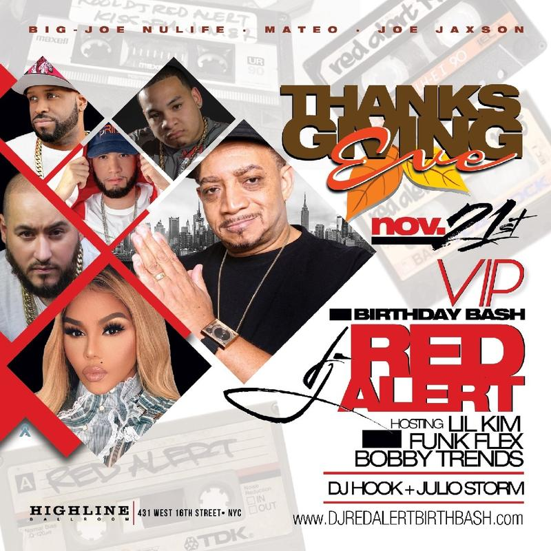 Thanksgiving Eve 2018 DJ Red Alert Birthday Bash Lil Kim Live With DJ Bobby Trends At Highline Ballroom