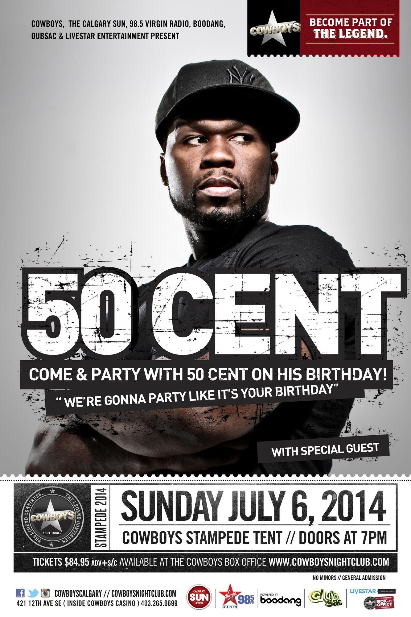 50 Cent Live At The Cowboys Stampede Tent Tickets In