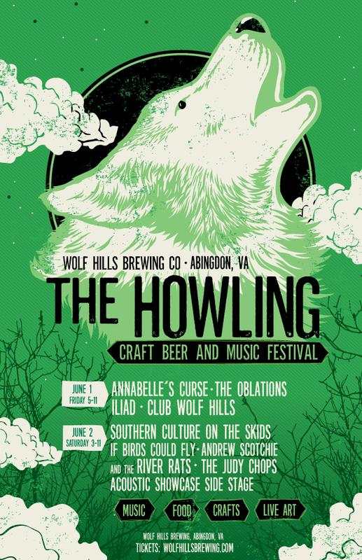 Wolf Hills Brewing Co. Fourth Annual The Howling Craft Beer and Music Festival