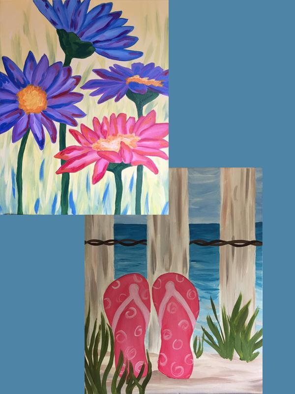 A Thirst For Art at Railey Realty {Flip Flops or Spring Daisies}