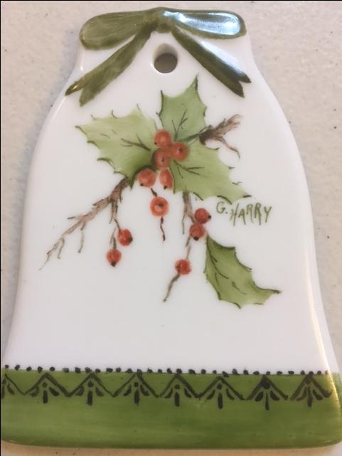 Annual Porcelain Ornament Painting workshop