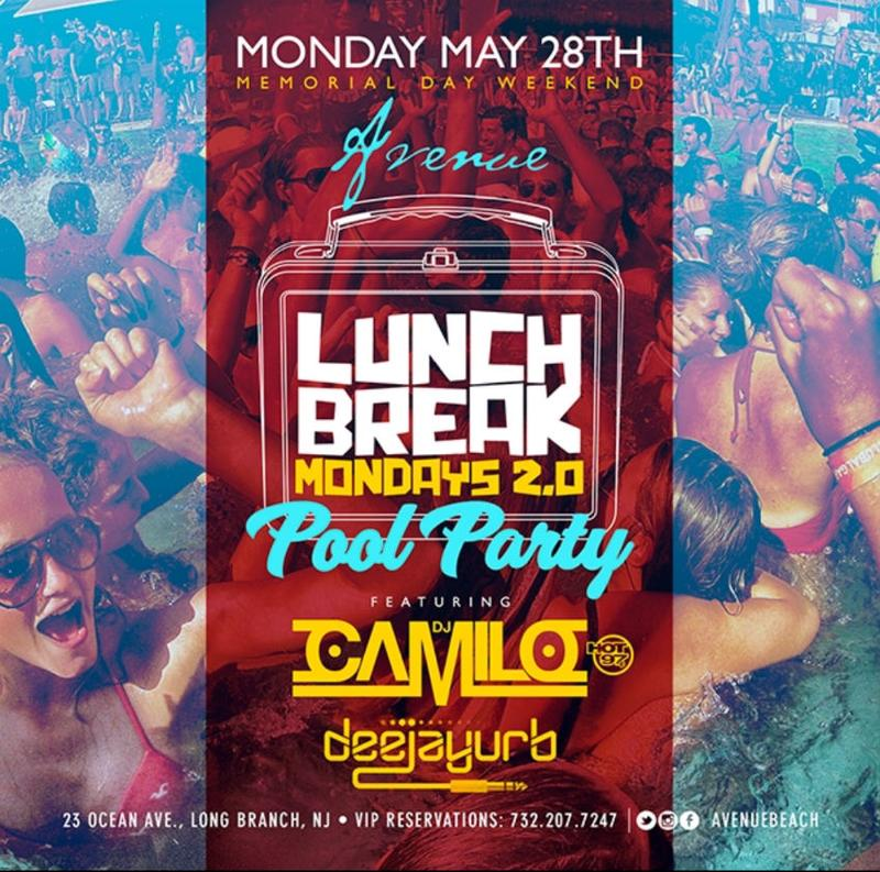 Memorial Day Weekend Lunch Break Mondays 2.0 DJ Camilo Live At Avenue