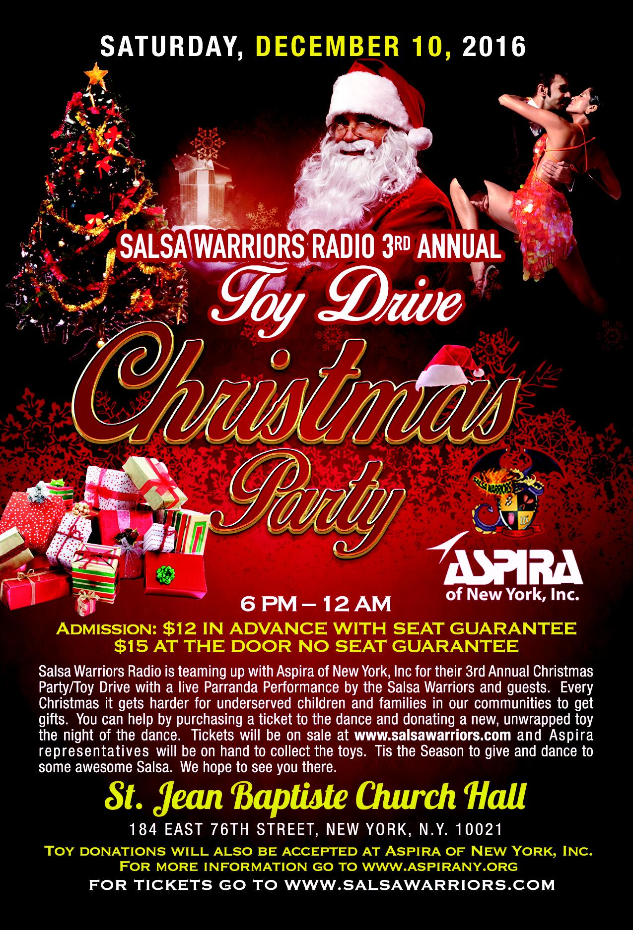 salsa warriors toy drive and christmas party dec th tickets in salsa warriors toy drive and christmas party dec 10th