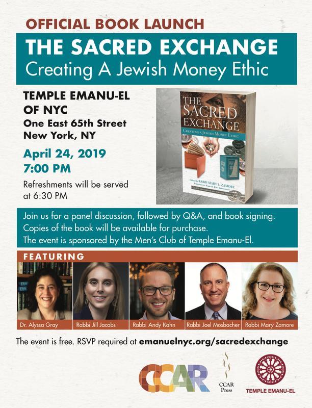 The Sacred Exchange: Creating a Jewish Money Ethic