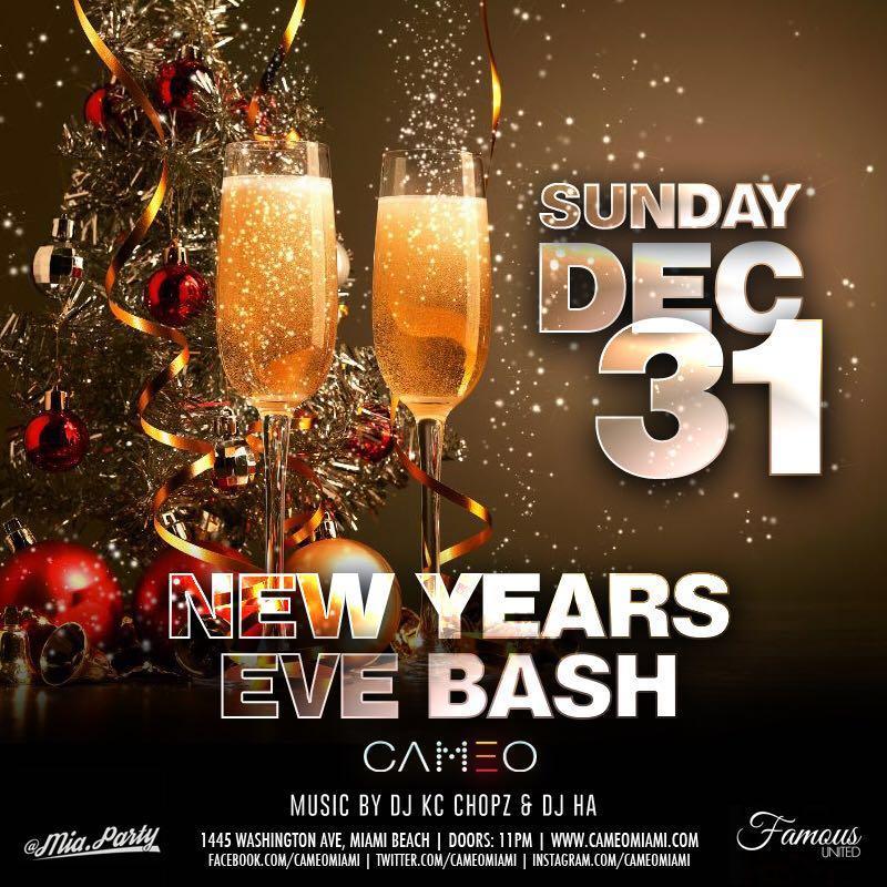 New Years Eve 2018 Bash At Cameo Nightclub