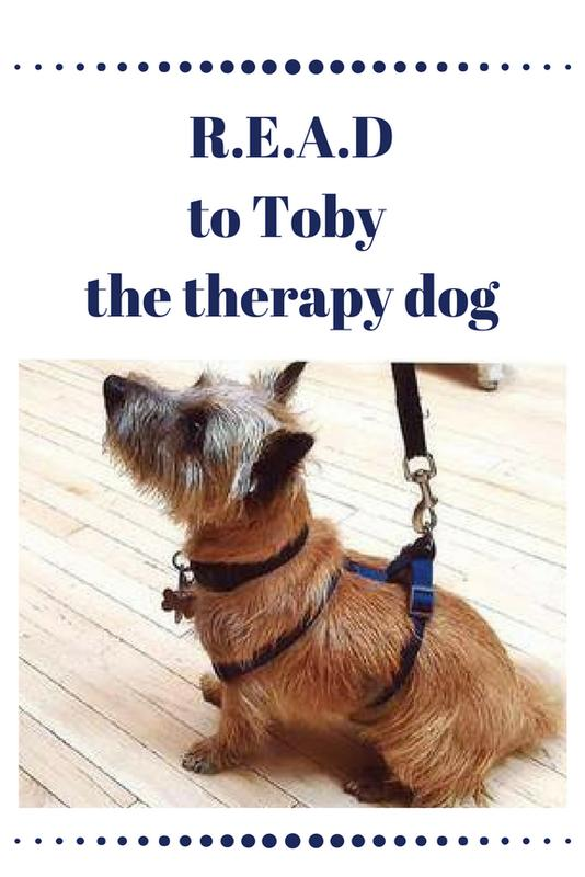 R.E.A.D. to Toby the Therapy Dog