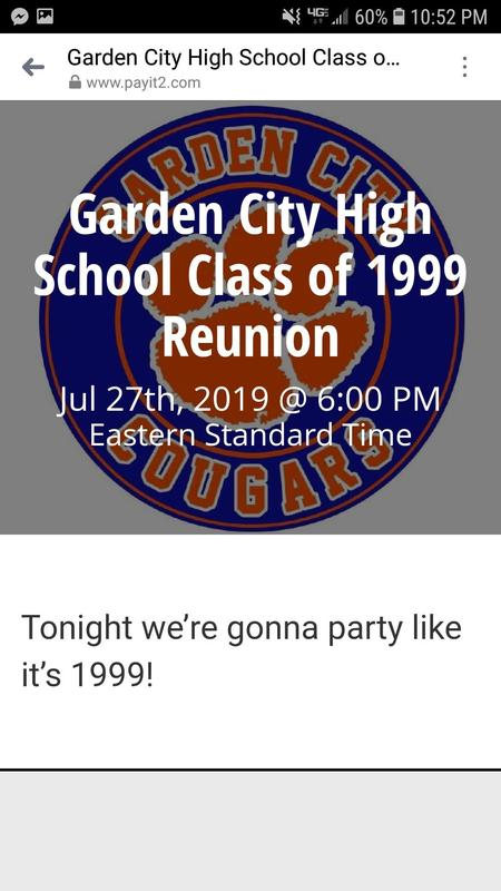 Garden City High School 20yr Reunion
