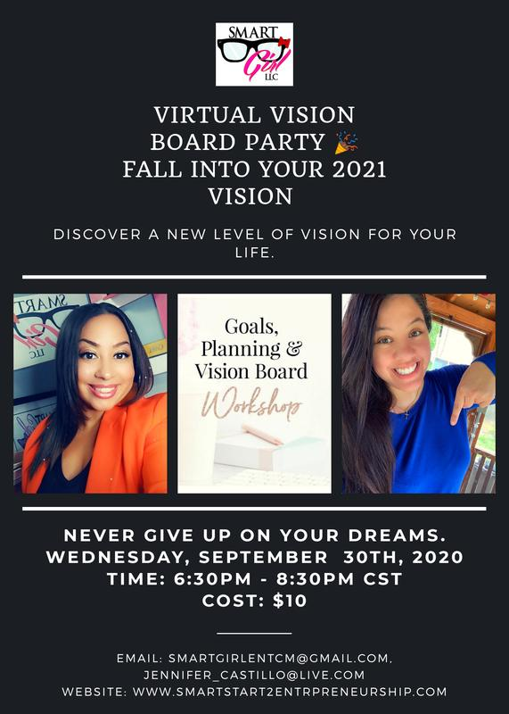 Virtual Vision Board Party - Fall into your 2021 Vision