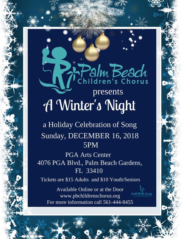 Palm Beach Children's Chorus: A Winter's Night