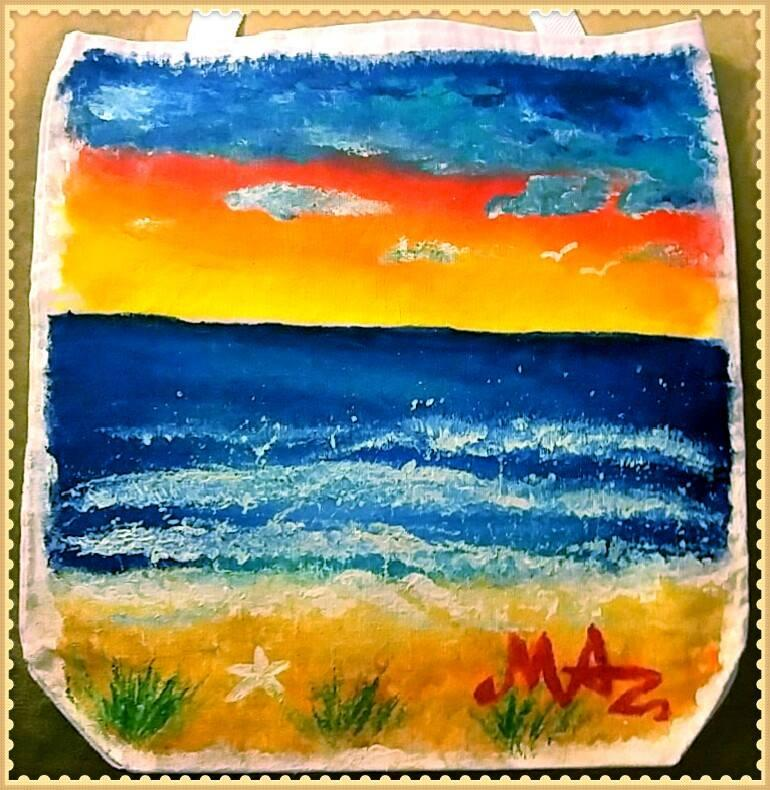 Paint a summers beach bag or canvas