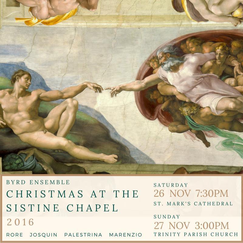 Christmas at the Sistine Chapel (Sat Nov 26 at St. Mark's)