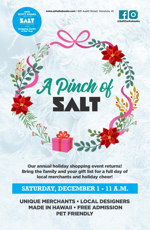 SHOP LOCALLY FOR THE HOLIDAYS AT 'A PINCH OF SALT'