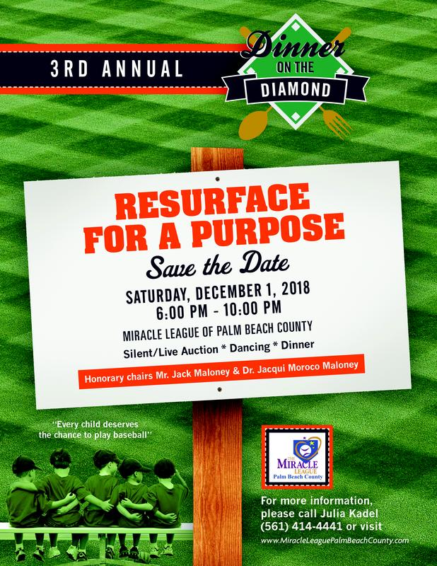 "Dinner on the Diamond ""Resurface for a Purpose"""