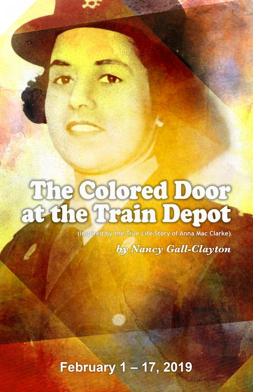 The Colored Door at the Train Depot
