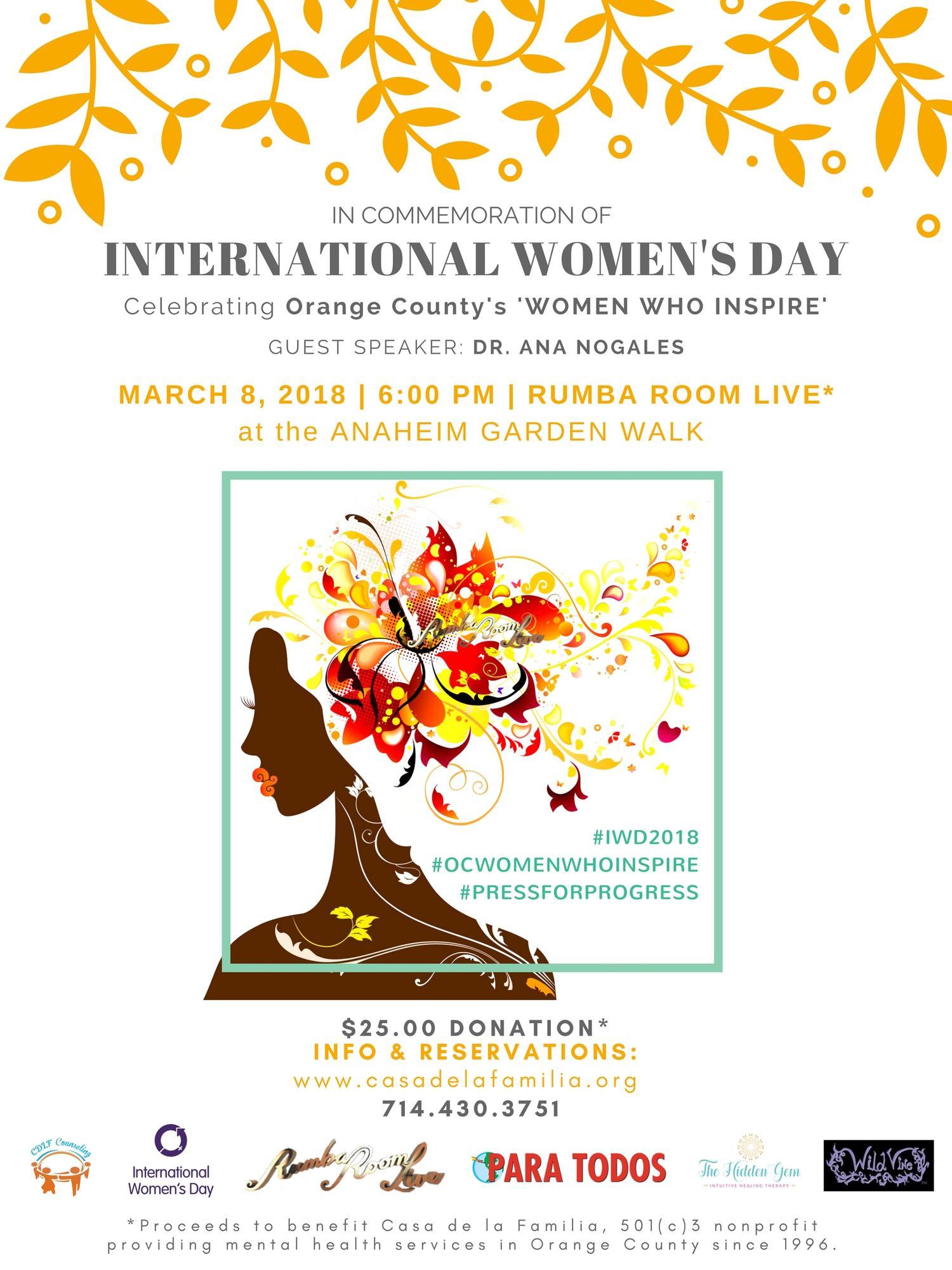 International Women S Day Tickets In Anaheim Ca United States