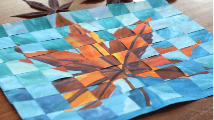 Kids *Live* Online Art Class - Woven Paper Paintings