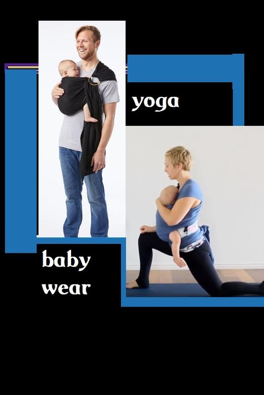 Baby Wear Mom and Baby and Dad and Baby Yoga