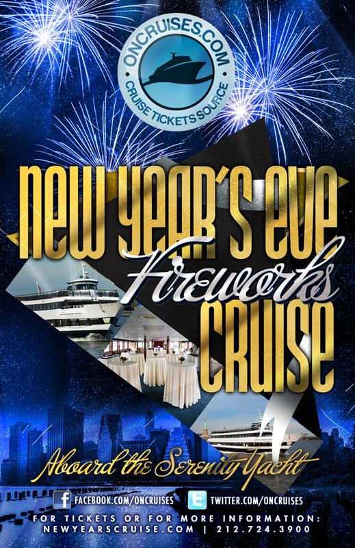 New Year's Eve Family Fireworks Cruise Aboard the Serenity Yacht-2015