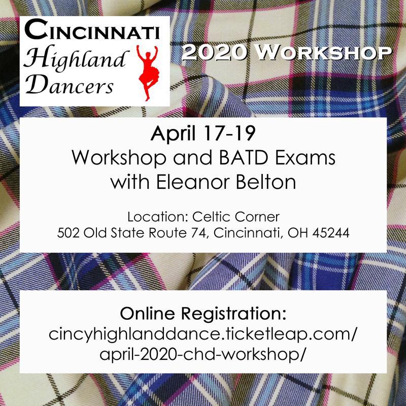 April 2020 Cincinnati Highland Dance Workshop