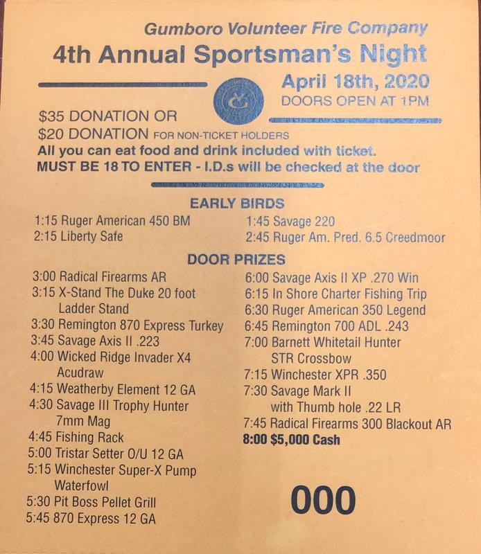 GVFC Annual Sportsmans Night