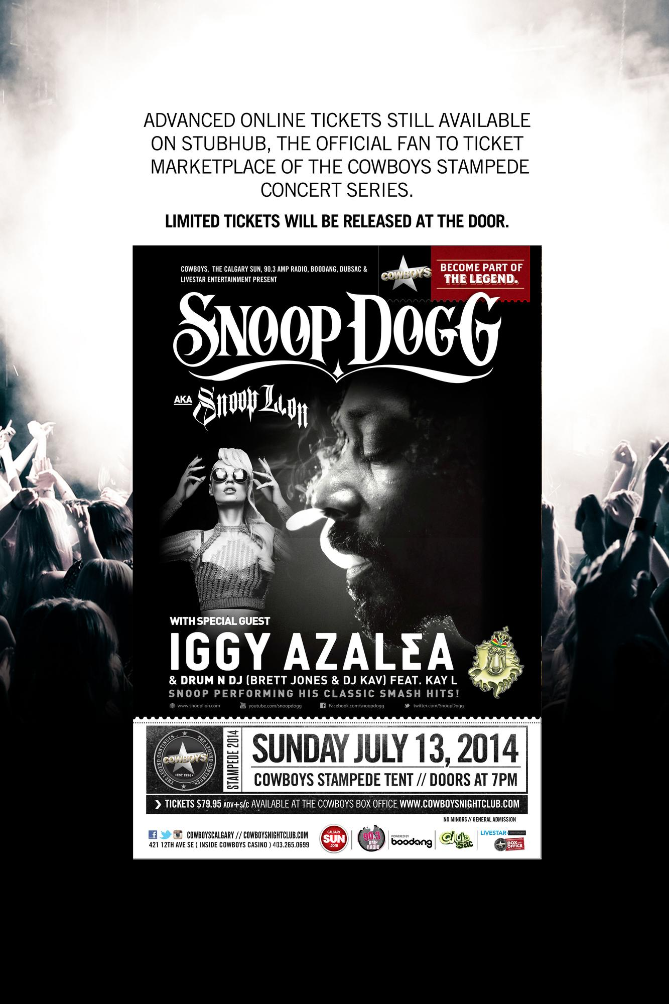 Snoop Dogg With Special Guest Iggy Azalea Cowboys Stampede Tent