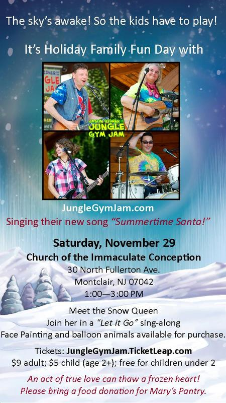Holiday Family Fun Day with the Jungle Gym Jam