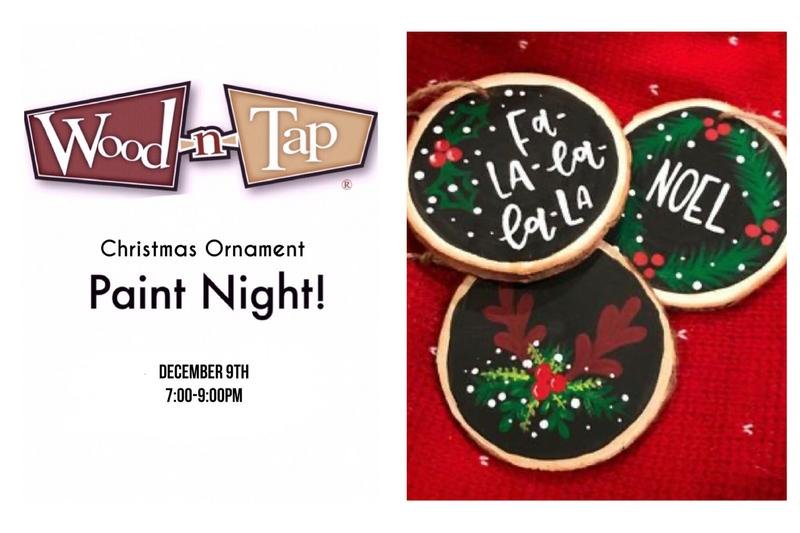 Holiday Ornament Paint Night at Wood-n-Tap 12/9