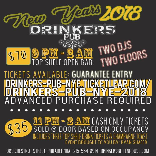 Drinker's Pub NYE 2018