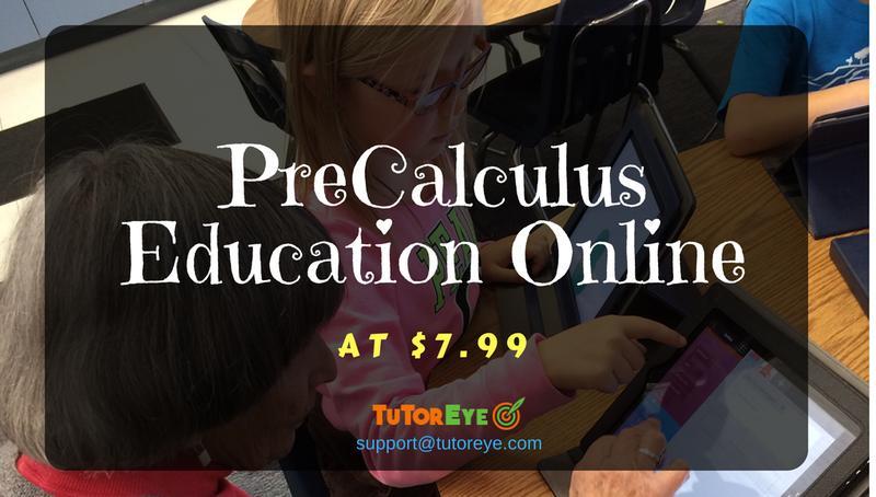 PreCalculus Tutoring at $7.99