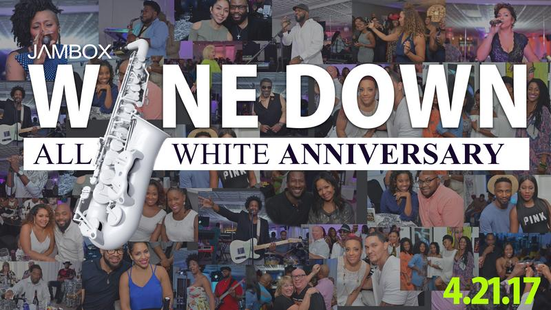 All White Anniversary Wine Down