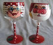 Paint Christmas Wine Glasses