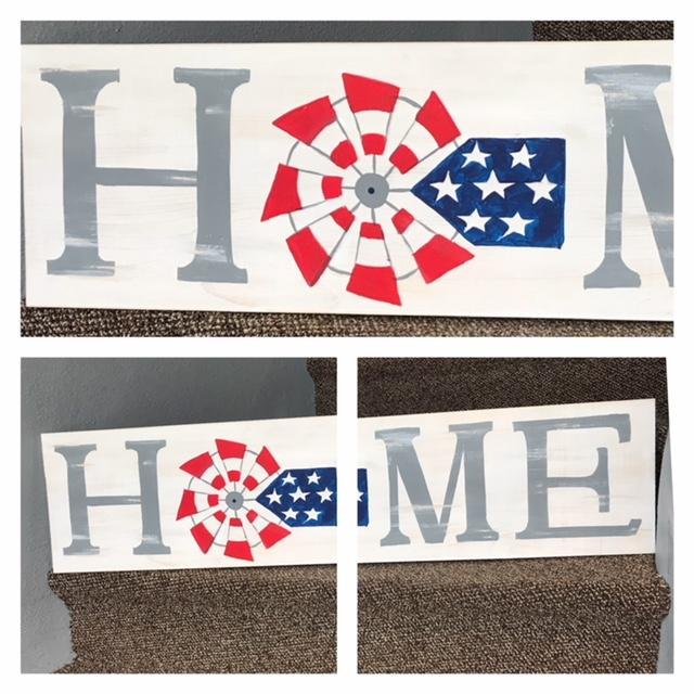 RedWhiteBlue HOME Sign Dunkerton