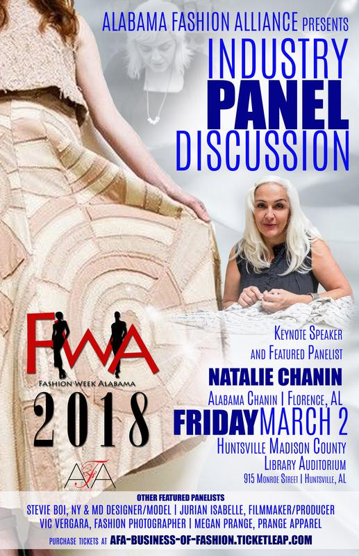 2018 Fashion Week Alabama Industry Panel Discussion
