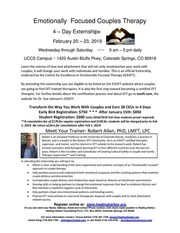 2019 Emotionally Focused Couples Therapy Externship