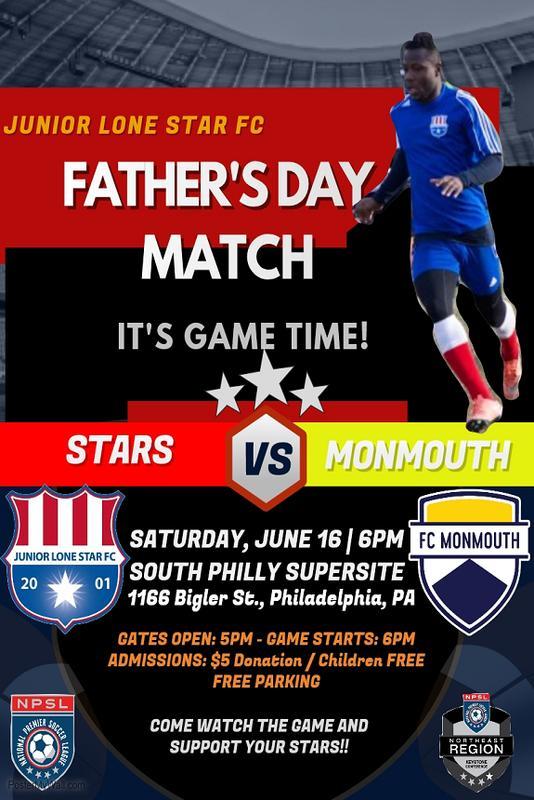 Junior Lone Star FC v. FC Monmouth