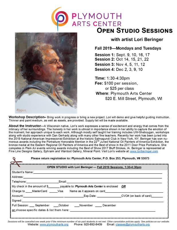 Open Studio with Lori Beringer Fall 2019